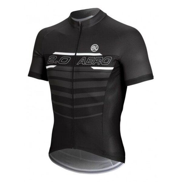 Μπλούζα Bicycle Line Aero 2.0 - Μαύρη/Ανθρακί / Large