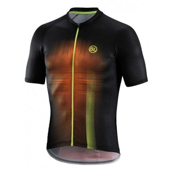 Μπλούζα Bicycle Line Treviso - Μαύρο/Fluo Πορτοκαλί. / Medium