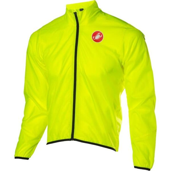 CASTELLI SQUADRA WIND JACKET - FLUORESCENT YELLOW - MEDIUM