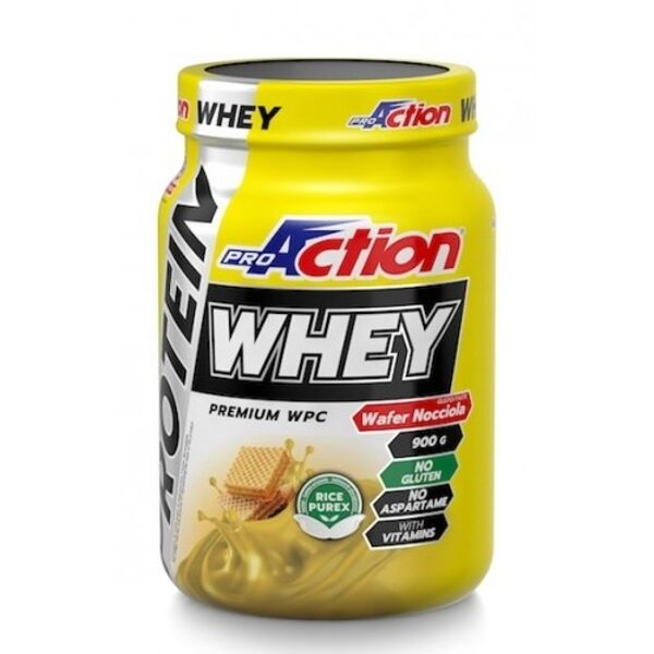 Pro Action Whey Protein 900gr- Wafer Hazelnut
